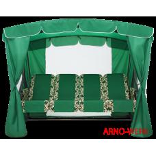 Садовые качели Arno Оазис Люкс + Зеленый