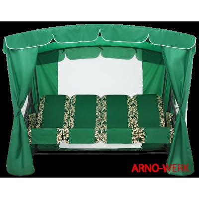 Садовые качели Arno Оазис Люкс + Зеленый фото