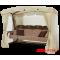 Садовые качели Arno Монарх Светло-коричневый Соты с вставками из Гретты (цвет Коричневый)