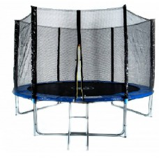 Батут с защитной сеткой и лестницей Trampoline Fitness 10FT-3-Extreme 306 cм
