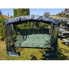 Садовые качели Марсель зелёный вензель