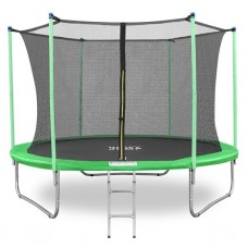 Батут Happy Jump 10ft-i PRO (312 см) с внутренней сеткой и лестницей