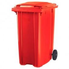 Мусорный контейнер ESE 360 л красный