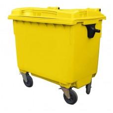 Контейнер для мусора пластиковый 660 л желтый, Razak