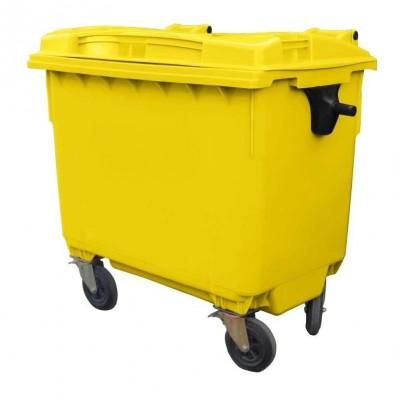 Контейнер для мусора пластиковый 660 л желтый, Razak фото