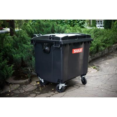Мусорный контейнер SULO 1100 л черный фото