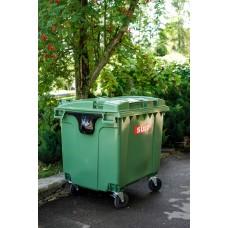 Мусорный контейнер SULO 1100 л зеленый