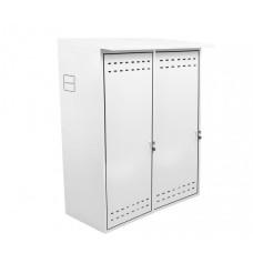 Шкаф для двух газовых баллонов ComfortProm оцинкованный, белый