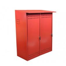 Шкаф для двух газовых баллонов ComfortProm оцинкованный, красный