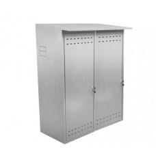 Шкаф для двух газовых баллонов ComfortProm оцинкованный, серый
