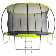 Батут Fitness Trampoline GREEN 12 FT Extreme INSIDE (4 опоры)