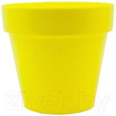 Горшок для цветов BigPlast Crystal 33130 (желтый)