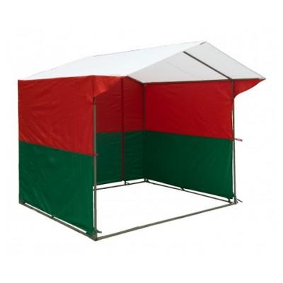 Торговая палатка 2.5х1.9 бело/красно/зеленая фото