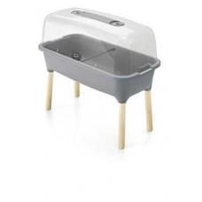 Горшок-теплица Prosperplast Planter Wood High Set на ножках ISEW780H-405U (серый)