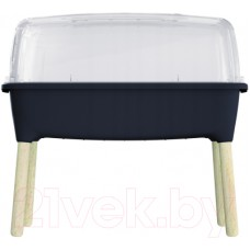 Горшок-теплица Prosperplast Planter Wood High Set на ножках ISEW780H-S433 (антрацит)