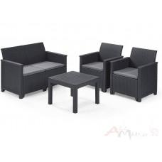 Комплект мебели Emma 2 seater графит