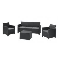 Комплект мебели Emma store 3 seater графит