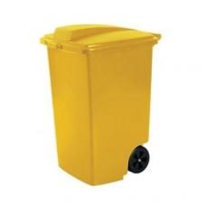 Контейнер для мусора на колёсах 100 л REFUSE BIN желтый