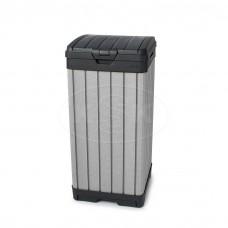 Контейнер для мусора уличный ROCKFORD BIN 125L черный/серебр