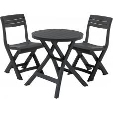 Набор уличной мебели JAZZ SET (2 стула,стол), графит