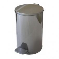 Урна металлическая с педалью 10 литров (Хром)