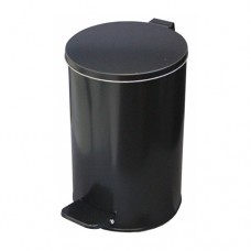 Урна металлическая с педалью 10 литров (Черная)