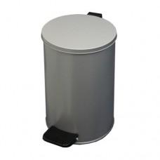 Урна металлическая с педалью 10 литров (Серая)