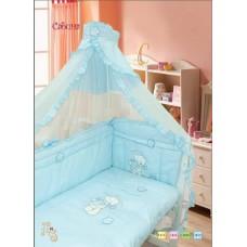 """Детский постельный комплект """"Сабина"""" 120х60, 7 предметов"""