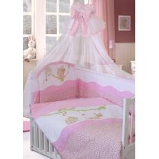 """Детский постельный комплект """"Улыбка"""" 120х60, 7 предметов"""