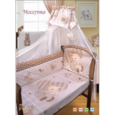 """Детский постельный комплект """"Мишутка"""" 120х60, 7 предметов фото"""