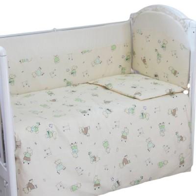 """Детский постельный комплект """"С нотками"""" 120х60, 6 предметов фото"""