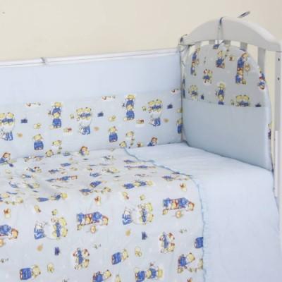 """Детский постельный комплект """"С лесенкой"""" 120х60, 6 предметов"""