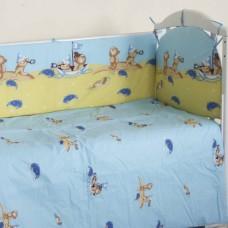 """Детский постельный комплект """"В море"""" 120х60, 6 предметов"""