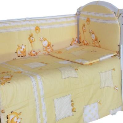 """Детский постельный комплект """"Сафари"""" 120х60, 6 предметов фото"""