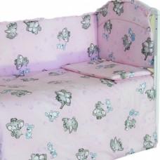 """Детский постельный комплект """"Слоники"""" 120х60, 6 предметов"""