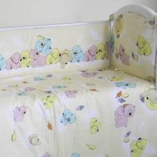 """Детский постельный комплект """"Разноцветные медведи"""" 120х60, 6 предметов"""