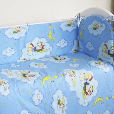 """Детский постельный комплект """"Луна"""" 120х60, 6 предметов фото"""
