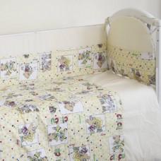 """Детский постельный комплект """"Цирк"""" 120х60, 6 предметов"""