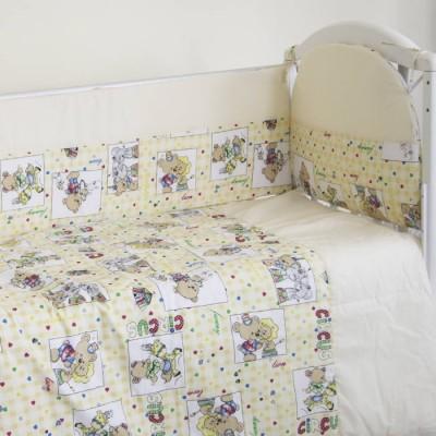 """Детский постельный комплект """"Цирк"""" 120х60, 6 предметов фото"""
