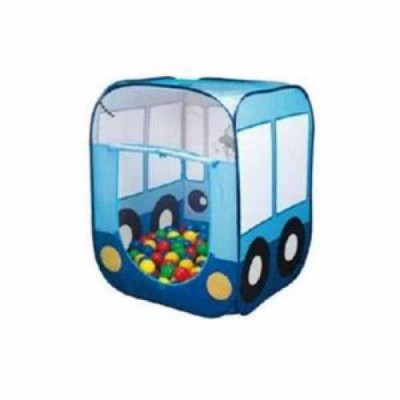 Игровой домик с мячиками Автобус (100шт,/6см) LI-699 фото