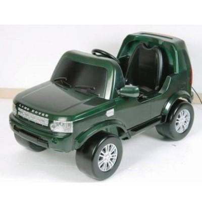 Электромобиль Land Rover Discovery 4 KL7006 тёмно-зелёный фото