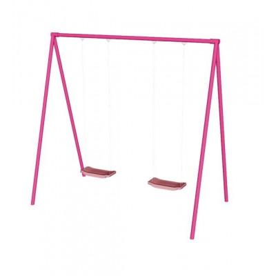 Качели СпортОкей двухместные розовые фото