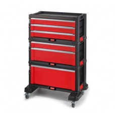 Комод для инструментов SET 6 DRAWER 1+2+3A CETAL-RED