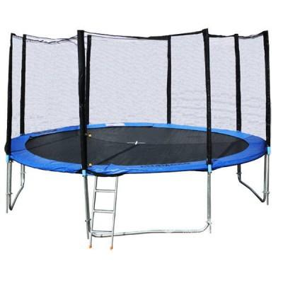 Батут с защитной сеткой и лестницей Trampoline Fitness 12 ft 366 см-standart
