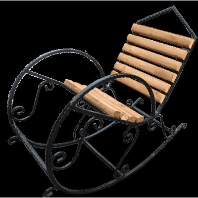 Кресло-качалка из дерева №1 фото