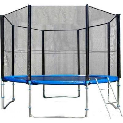 Батут с защитной сеткой и лестницей Trampoline Fitness 10FT-Prof 306 см