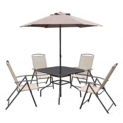 Комплект садовой мебели Палермо (Стол+Зонт+4 кресла)