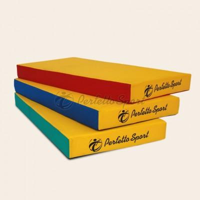 """Мат гимнастический """"PERFETTO SPORT"""" №1 100х50х10 синий/жёлтый фото"""