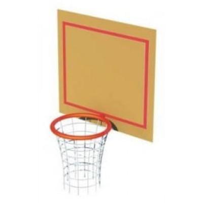Кольцо баскетбольное со щитом (на зацепах) фото