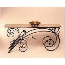 Кованый стол со стеклянной столешницей КОВ15